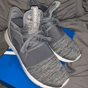 Adidas tubular grey sneakers